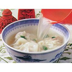 Short soup with pork wontons recipe - By Australian Women's Weekly