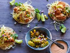 The Ultimate Fish Tacos recipe from Tyler Florence via Food Network - Big hit! Would make again, but this recipe takes longer than the listed total time to prepare.