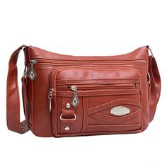 59f8df748 Women Multi-pockets PU Leather Crossbody Bag Shoulder Bag is designer, see  other cute bags on NewChic Mobile.