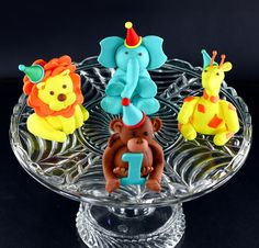 Animals for first birthday. Too cute. -Zoo Menagerie by Kalli Cakes