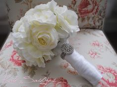 peony+boquets+for+weddings | Wedding Bouquet Ivory Rose Peony and Ranunculus Wedding Bouquet with ...