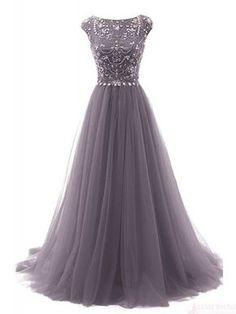Gorgeous Beading Bodice Long Tulle   Prom Dresses  Evening Dresses  #promdresses #SIMIbridal