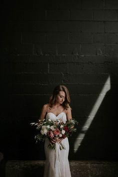 Modern romantic bridal style inspiration   Image by Olivia Strohm Photography