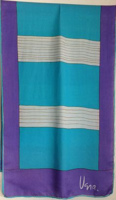 Vera striped purple and aqua scarf