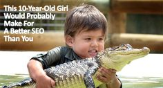 A wee bit dangerous Boy, gains fame for his fondness of gators and other large reptiles Caution: Children should not play with wild animals unaccompanied by an adult. Funny Shit, Funny Cats, Funny Animals, Cute Animals, Animal Fun, Top Funny, Wild Animals, Animal Pictures, Funny Pictures