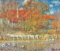 La Mare aux canards, l'automne (C Monet - W 289)