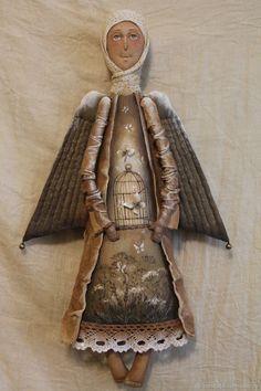 Купить Лети...Ангел - комбинированный, текстильная кукла, ароматизированная кукла, интерьерная кукла, ангел Handmade Art, Folk Art, Buddha, Felt, Clay, Statue, Dolls, Christmas, Drop Cloths