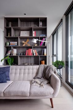 Plus Architecture MILQ Apartments Deco Furniture, Modern Furniture, Apartment Bookshelves, Prep Kitchen, Loving Your Body, Residential Architecture, Living Area, Couch, Style Hair