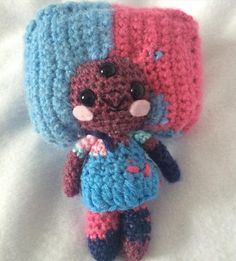It's baby's first fusion! Amigurumi Cotton Candy Garnet from Steven Universe. She's available on my Etsy store here! http://etsy.me/1TL0gQB #stevenuniverse #garnet #cottoncandygarnet #su #garnetsu #cartoon #cartoonnetwork #amigurumi #cute #craft #crochet #yarn by metaphorical_cake