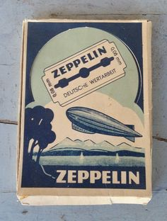 Original German WW 2 - Soldiers / Zeppelin Razor Blades - 10 pieces in Box