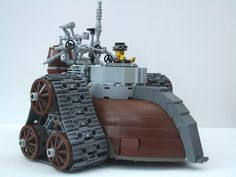 It's only right that we at Steampunk For Kids post the result of the colliding worlds of Lego and Steampunk! Legos, Steampunk Lego, Steampunk Crafts, Lego Robot, Lego Ww2, Lego Lego, Amazing Lego Creations, Lego Mechs, Lego Military