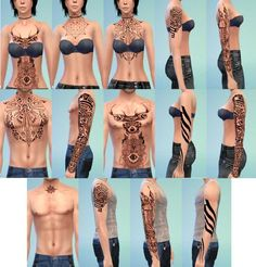 The Sims 4 Randow Tattoo Set by OneLama – Non-default – Universal- Custom Slots Find out more and download at OneLama.