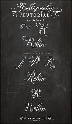 """Calligraphy Tutorial   the Capital Letter """"R"""""""