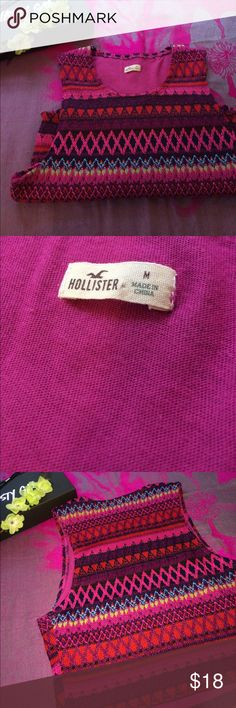 🌞Hollister Crop Top✨ •never worn •crotchet material •multi colored •make me offers ✨ Hollister Tops Crop Tops