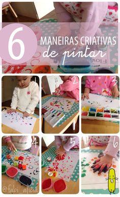 6 maneiras de pintar para crianças com o Blog Tempojunto