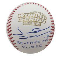 Johnny Damon Signed 2004 World Series Red Sox Baseball REVERSE CURSE JSA COA