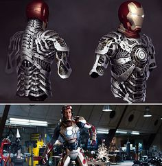Best of 2013 (Behind the Scenes): 'Iron Man VFX artists on the Mark 42 suit design Real Iron Man, Iron Man Art, Marvel Heroes, Captain Marvel, Marvel Dc, Iron Man Kunst, Science Fiction, Avengers, Iron Man Helmet