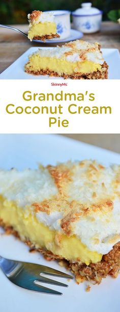 The holiday pie life doesn't get better than Grandma's mouthwatering Coconut Cream Pie!