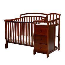 Dream On Me Casco 3-in-1 Mini Crib Dressing Table Combo - Espresso