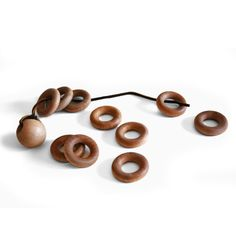 Montessori Lacing Beads for Toddlers - Fine Motor Development Practical Life - Natural Wood Toy with Beeswax Polish. $9.50, via Etsy.