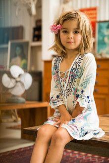 I ABSOLUTELY LOVE everything at this store for both Ellie and I. This would be so cute on Ellie. -Gypsy Sparkle Kaftan Wild Lily Blue