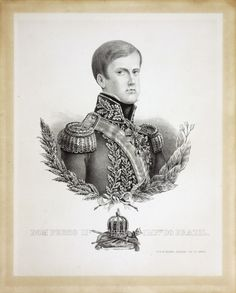 """"""" Dom Pedro II, Emperor of Brazil. 1825/1850. Lith de Heathon e Rensburg. Rio de Janeiro, Empire of Brazil. (Museu Imperial) """""""