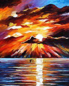 SUNNY CLOUDS - Pintura al óleo sobre lienzo por Leonid Afremov - http://afremov.com/SUNNY-CLOUDS-PALETTE-KNIFE-Oil-Painting-On-Canvas-By-Leonid-Afremov-Size-20-x24.html?utm_source=s-v-es-pin&utm_medium=/s-v-es-pin&utm_campaign=ADD-YOUR