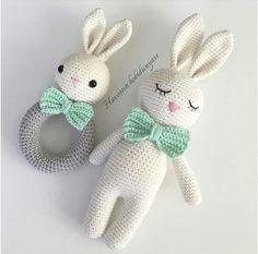 Crochet amigurumi bunny pattern english only – Artofit Crochet Baby Toys, Newborn Crochet, Crochet Bunny, Crochet Gifts, Cute Crochet, Crochet For Kids, Crochet Animals, Knit Crochet, Knitted Dolls