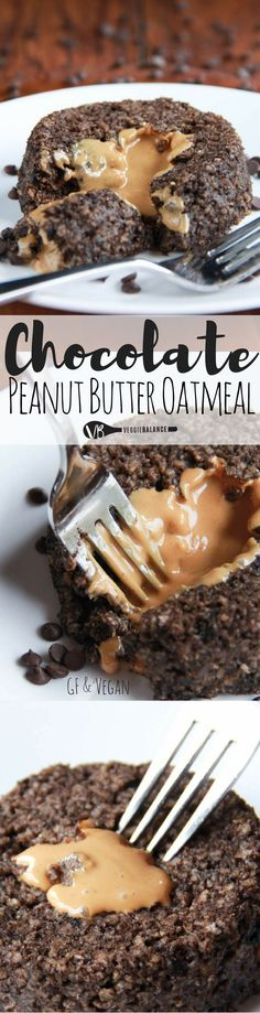 Chocolate Peanut Butter Oatmeal recipe that is out of this world good. This healthy treat is decadent at it's finest. Having the ability to eat dessert for breakfast is a must at least once a week. (Gluten-Free, Dairy-Free, Vegan and Nut-Free Friendly)