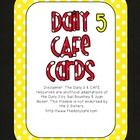 Red and Yellow Daily 5 CAFE Strategies Cards to post after each mini lesson!  These match my red and yellow CAFE headers and Daily 5 posters!Disc...