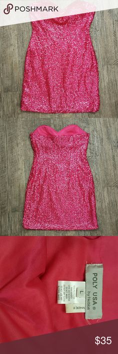 I just added this listing on Poshmark: Vtg Pink Sequin Party Glam Bling Bodycon Dress L. #shopmycloset #poshmark #fashion #shopping #style #forsale #Poly USA by Neblon #Dresses & Skirts
