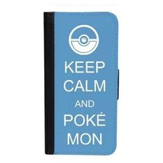 CellPowerCasesTM Keep Calm Pokemon iPhone 6 (4.7) Bi-fold Black Case ($16) ❤ liked on Polyvore featuring accessories, tech accessories, black, iphone cover case, iphone cases, apple iphone cases, print iphone case and pattern iphone case