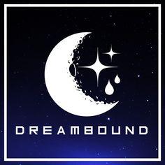 Dreambound - Logo | Bolderlines #bolderlines #logo #graphicdesign #design #illustration #branding #illustrator #illustrative #astronomy #moon #stars #handdrawn #hardcore #melodichardcore #melodic #music #promotion #dreambound