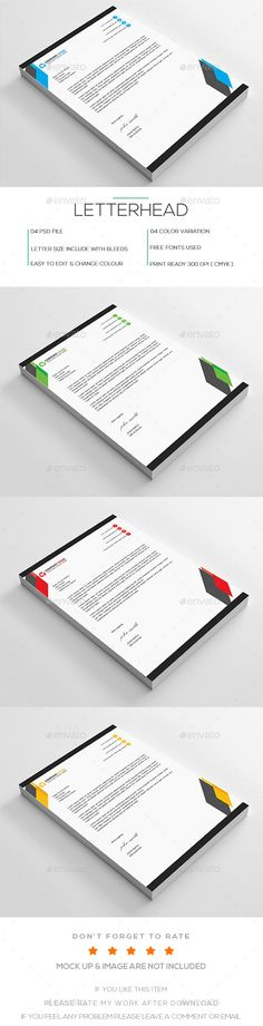 Letterhead Letterhead, Letterhead design and Stationery printing - corporate letterhead