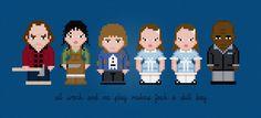 The Shining Movie Characters - Digital PDF Cross Stitch Pattern