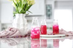 I wanted to create a non-alcoholic version of a beet and fruit juice drink and ended up creating this spritzer. Juice Drinks, Fruit Juice, Cocktail Drinks, Healthy Drinks, Cocktails, Red Food Dye, Kinds Of Fruits, Juice Plus, Fruit
