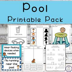 This pool printable pack includes math & literacy activites as well as water safety posters to help teach children about being safe when near or in water. Graphing Activities, Number Activities, Math Literacy, Printable Activities For Kids, Color Activities, Stem Activities, Water Safety, Food Safety, Plural Words