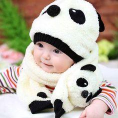 9c0e0b8024c Super cute panda cap   scarf. Kids HatsBaby Boy Or GirlBaby ...