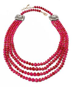 Look at this Fuchsia Meena Necklace on #zulily today!