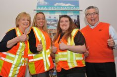 AAA employees in Topeka participate in Go Orange in Kansas.