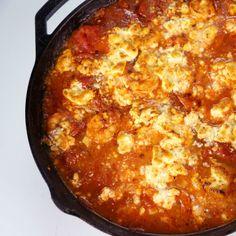 the chew | Recipe  | Michael Symon's Shrimp With Tomato And Feta