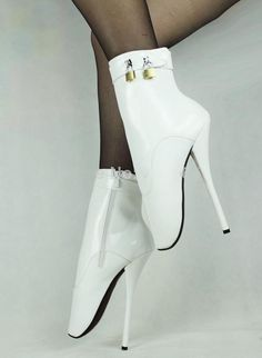 Online Cheap New Hot Sale 18cm Extreme High Heels Boots Women Sexy White Pu Fetish Ballet Ankle Boots With 2 Locks Bdsm Night Club Sexy Shoes Plus Size By Gzjackylam | Dhgate.Com