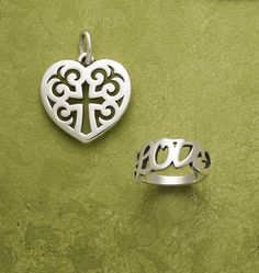 "Regal Heart Pendant and ""Love"" Ring from James Avery Jewelry"