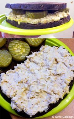 Another pinner wrote:  Best Faux Tuna Ever! 1 can Hearts of Palm chopped into chunks, 1 can Garbanzo Beans: mash in a bowl (or use food processor) and add mayo (or vegan mayo) as you would with real Tuna. I also added a couple dashes of soy sauce, ground pepper and celery seeds for extra flavor. The texture is VERY close to real tuna, it has protein from the beans, and is SUPER yummy!