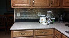 Stick On Tiles For Kitchen Backsplash Or Bathroom. Easy DIY Peel And Stick  Backsplash Tiles.