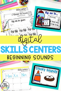 These digital kindergarten centers focus on identifying beginning sounds. With these fun kindergarten activities, students can practice first sound and early letter recognition sounds.