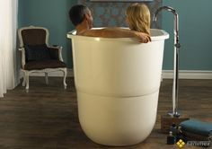 Japanese Sit Bath Tub - deep free standing soaking tub Sorrento by Victoria & Albert