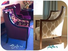 Maven + Maison: DIY Reupholstery: Barrel Chair, Part 2 Chair Reupholstery, Bucket Chairs, Chair Parts, Barrel Chair, Diy Chair, Take A Seat, Fun Projects, Armchair, House Styles
