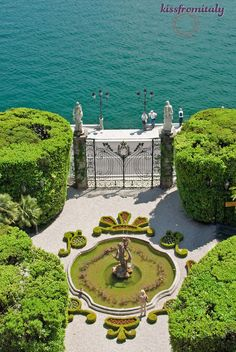 Lake Como makes for a beautiful daytrip from Milan. This is the garden of the magnificent Villa Carlotta.