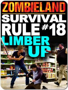 Zombieland Survival Rule #18: Limber Up 3x4 Magnet $5